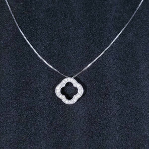 Sterling Silver Small Four Leaf Clover Pendant